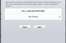 iPad 4 AT&T $100 Credit