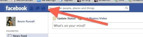 Facebook Notifications Drop Down List