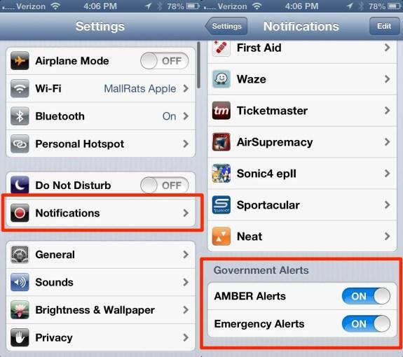 iOS 6 iPhone Amber Alerts