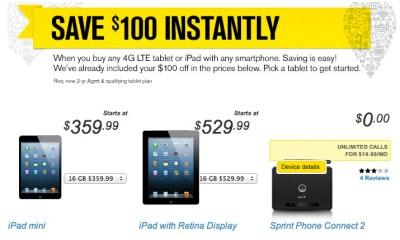 iPad 4 deal Sprint