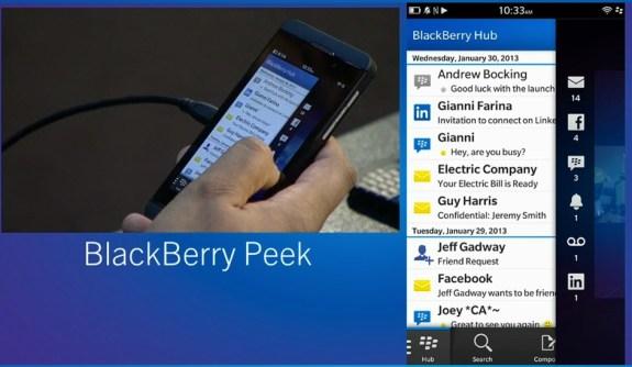 BlackBerry Peek