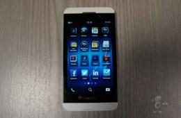 BlackBerry Z10 white leak