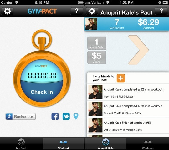Gympact Paid to Get in Shape