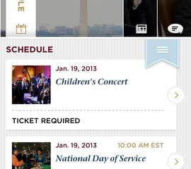 Inauguration iPhone app