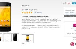 Nexus 4 In Stock at T-Mobile
