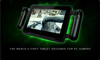 Razer Edge with controllers