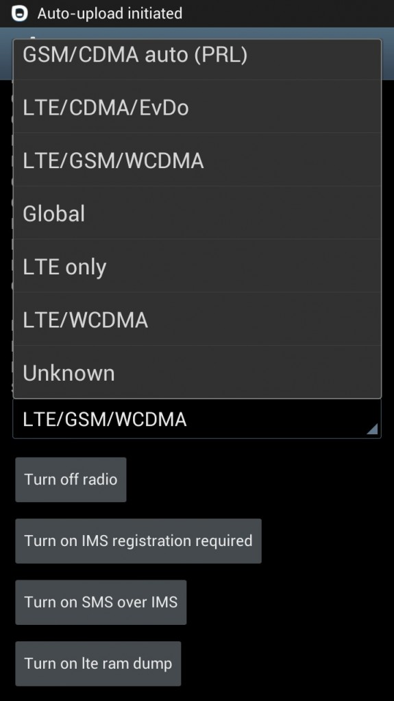 LTE Hack screen