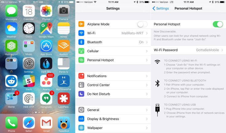 How to Use Your iPhone as a Personal Hotspot Over USB