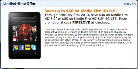 Amazon fire hd coupon code