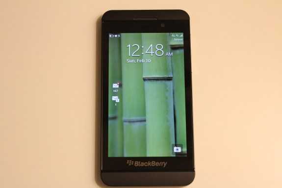 Blackberry Z10 on Solavei 4G
