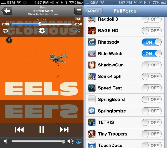 FullForce iPhone Cydia App