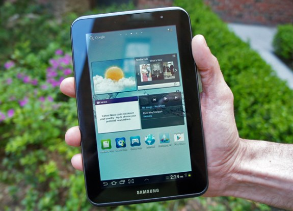 The Galaxy Tab 2 7.0 Jelly Bean roll out has begun today.