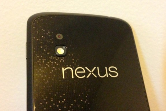 The Nexus 4 features a vulnerable glass back.
