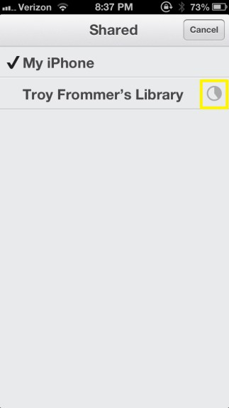 Loading Library (iPhone)