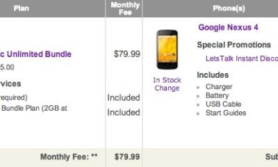 Nexus 4 Deal
