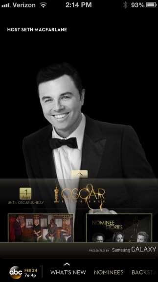 Oscars App Home