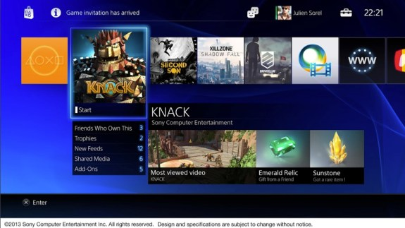 PlayStation 4 UI