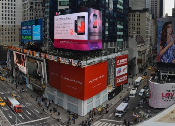 This retail store could be the location for the Samsung Galaxy s4 experience location in Times Square.