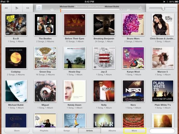 Tap More (iPad)