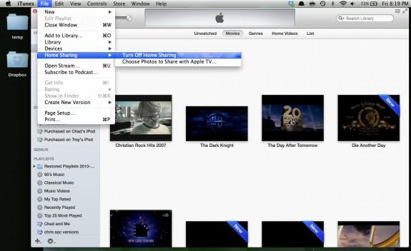 Turn Off Home Sharing (Mac)