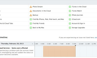 An iCloud outage is no longer as severe, but multiple services remain down.
