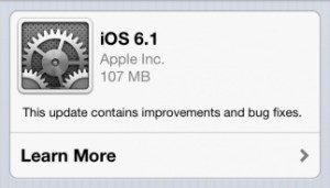 iOS 6.1 Features