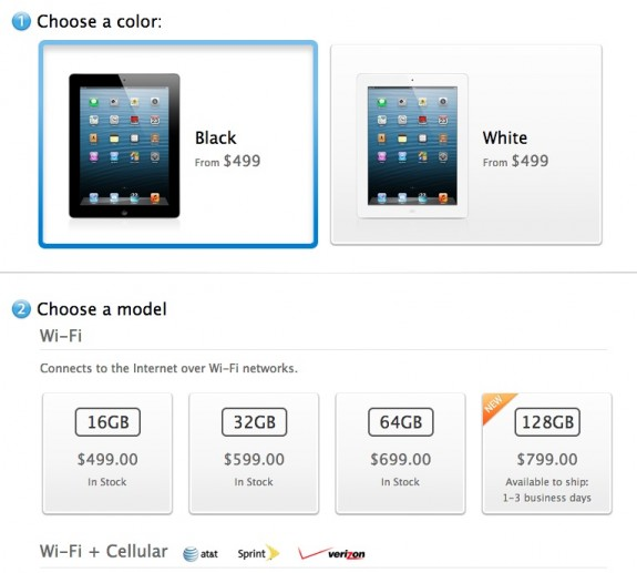 iPad 4 128GB on sale