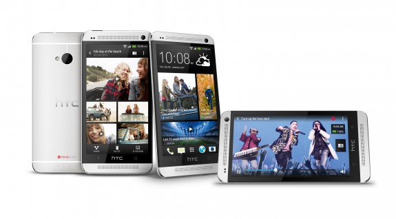 The HTC One uses metal rather than plastic in the design.