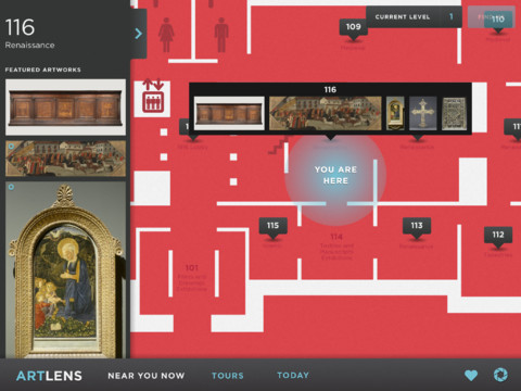 The Cleveland Museums of Art's ARTLENS app for iPads.