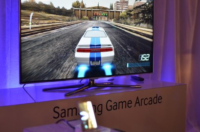 The Samsung gaming controller lets gamers play Real Racing 3 and other games on the Galaxy S4 with a physical controller.