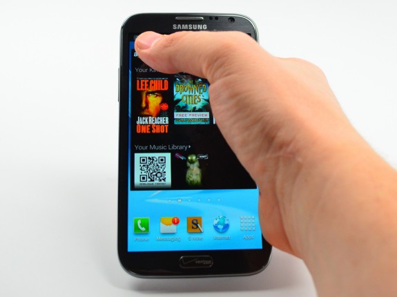 The Galaxy Note 2 features a massive display, perfect for travel.