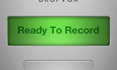 dropvox voice memo app with backup to dropbox