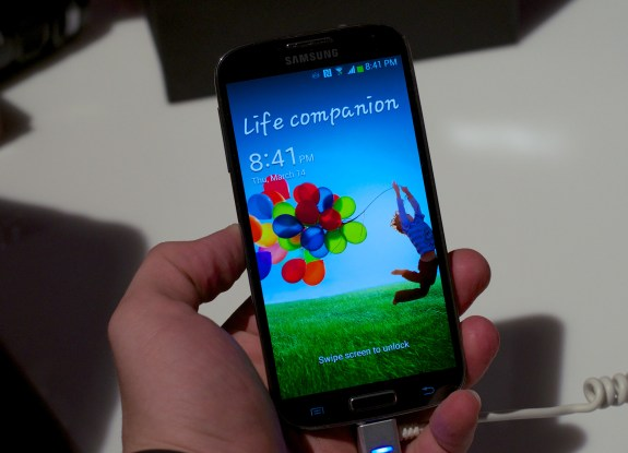 The Samsung Galaxy S4 comes with a 5-inch 1080p display.