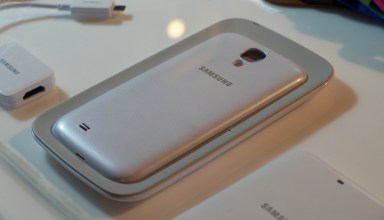 Add wireless charging to the Samsung Galaxy S4 with a new back, rumored for an April release with a $50 price.