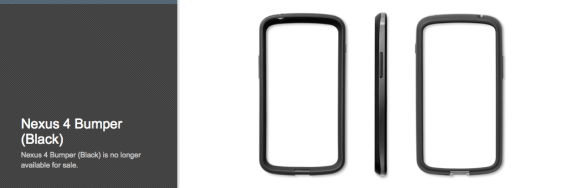 The Nexus 4 bumper case is gone from the Play Store, and it's unclear if it will ever come back.