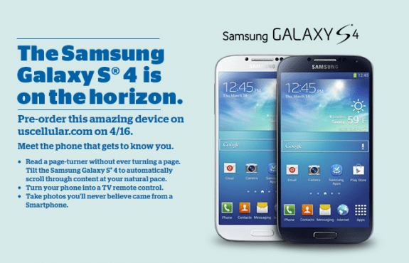 AT&T also will be taking Galaxy S4 pre-orders on April 16th.