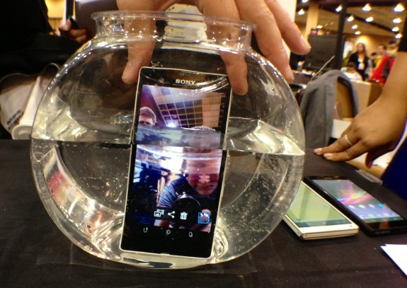 The Sony Xperia Z features a dust and water proof design.