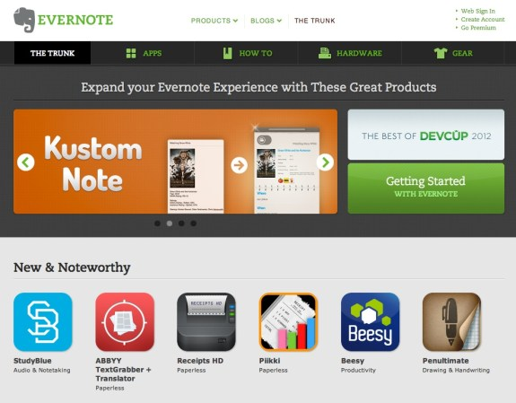 evernote trunk