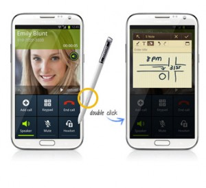 The Galaxy Note 2 S-Pen.