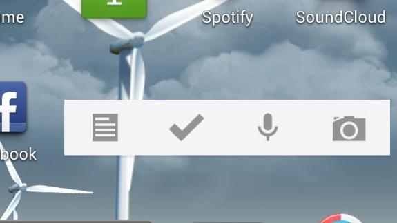 google keep widget