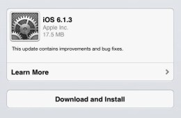 The iOS 6.1.3 update is now available for download.
