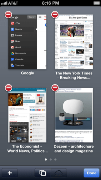 In iOS 7, Safari could offer better page management.