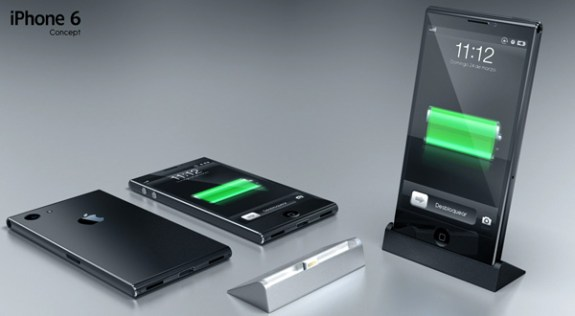 This iPhone 6 concept uses magnets to attach to an official iPhone dock with a Lightning connection.