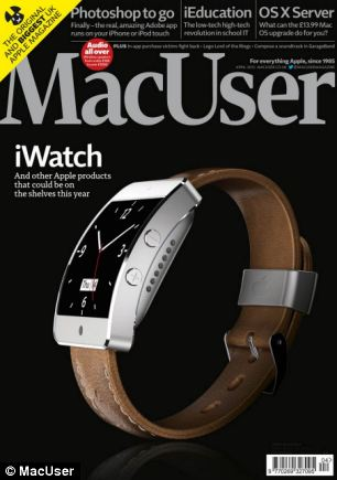 This iWatch concept uses a curved glass display.