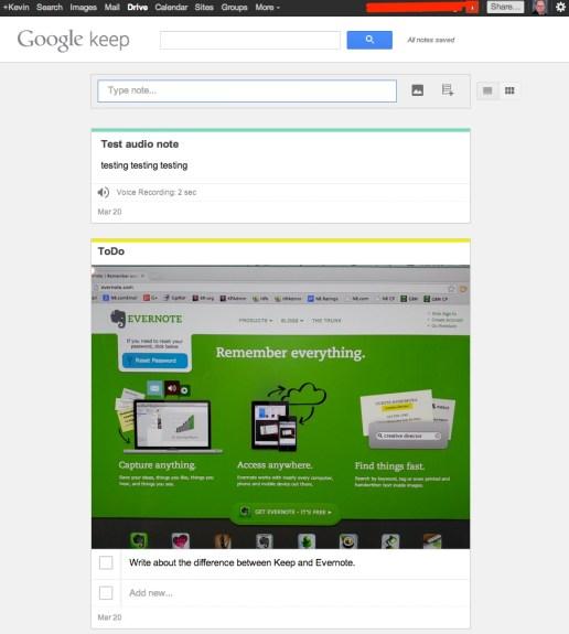 keep web app