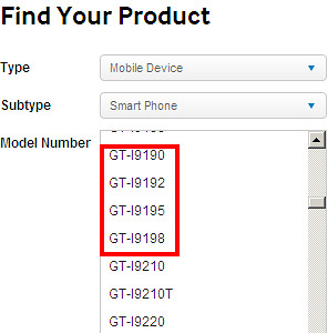 The Galaxy S4 Mini has evidently appeared on Samsung's website.