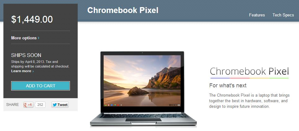4G Chromebook Pixel LTE On Track for Early April Availability