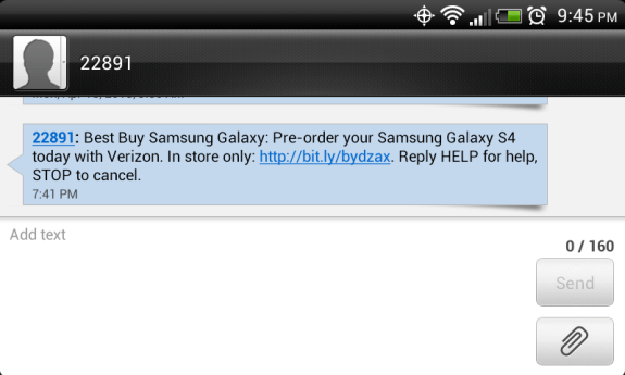 Best Buy is currently taking pre-orders for the Verizon Galaxy S4.