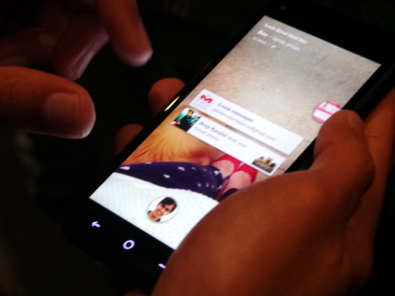 Integrated Gmail notifications shown on HTC First