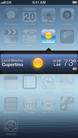 Bianco iOS 7 concept widgets